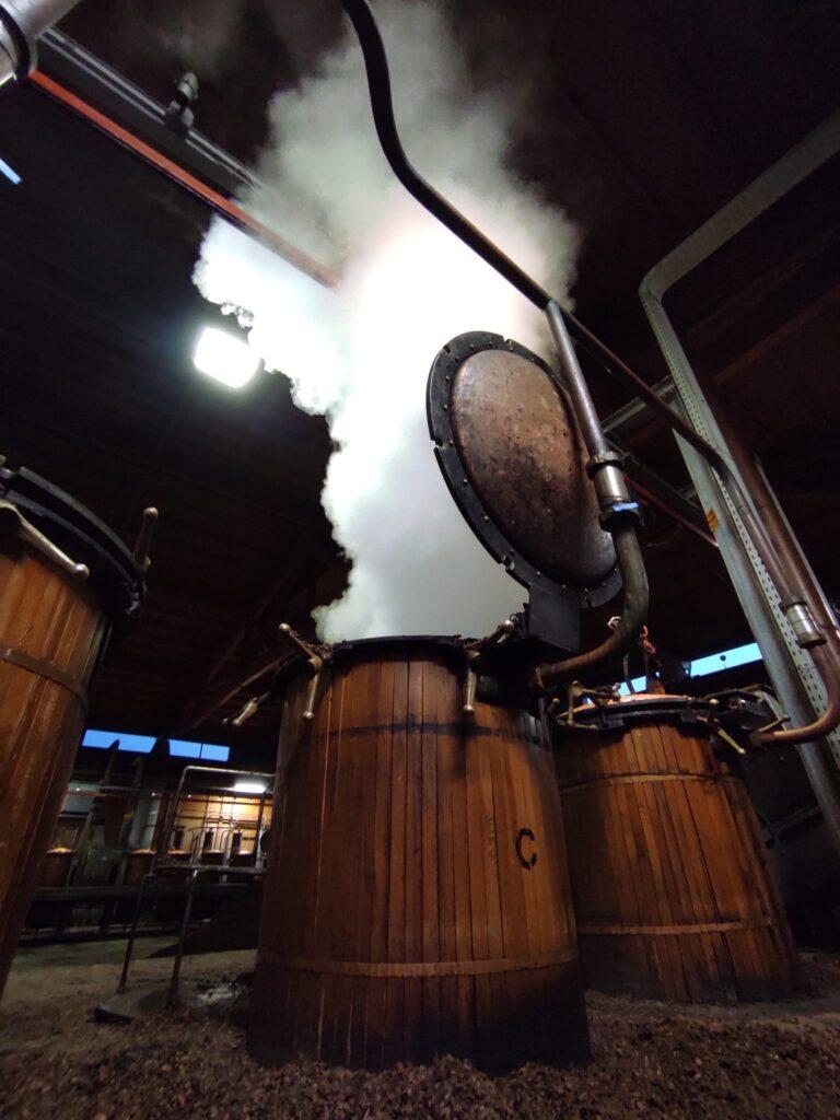 Grappa NONINO distillation in progress
